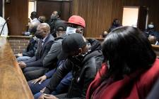 FILE: Seven suspects accused of multi-million rand tender corruption appeared in the Bloemfontein Magistrates Court on 2 October 2020. The accused, who face around 60 charges, are alleged to have fraudulently been awarded a R255 million contract to audit and remove asbestos roofs in the Free State. Picture:  Xanderleigh Dookey/EWN