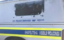 Khayelitsha police van. Picture: Lizell Persens/Eyewitness News