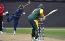 FILE: Sri Lanka's Lasith Malinga bowling against Proteas in their warm-up match ahead of the Cricket World Cup. Picture: Sri Lanka official Facebook page.