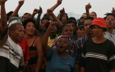 Protesting residents. Picture: Taurai Maduna/Eyewitness News