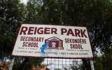 Reiger Park High School in Boksburg. Picture: Kayleen Morgan/EWN
