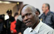 Chris Mahlangu in a Ventersdorp court on Tuesday, 22 May 2012 in connection with AWB leader Eugene Terre'Blanche's death. Picture:SAPA.
