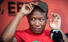 EFF leader Julius Malema addressing media. Picture: Refilwe Pitjeng/EWN.