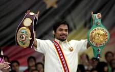 Filipino boxing great Manny Pacquiao. Picture: AFP