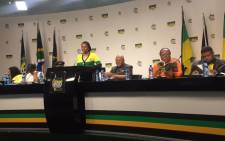 Chairpersons of the various African National Congress NEC sub committees at the launch of the party's policy documents for the June conference. Picture: Clement Manyathela/EWN.
