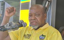 African National Congress (ANC) Chairperson Gwede Mantashe in the Moses Mabhida region on 23 October 2021. Picture: ANC.