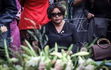 FILE: Zindzi Mandela at the wreath-laying ceremony at Fourways Memorial Park for her late mother Winnie Madikizela-Mandela, who died in 2018. Picture: Abigail Javier/EWN