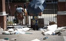 Refugees have occupied the UNCHR building in Pretoria to demand that they are assisted to leave the country following recent attacks on foreign nationals. Picture: Xanderleigh Dookey/EWN.