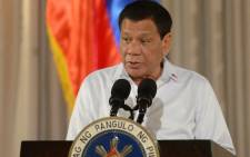 FILE: Philippine President Rodrigo Duterte on July 17, 2017. Picture: AFP.