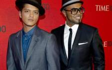Singer Bruno Mars (left). Picture: AFP