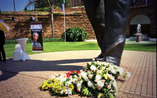 FILE: #RememberingMadiba the wreathes placed at the feet of Madiba's statue in 2014. Picture: Supplied