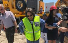 Cape Town Mayor Patricia de Lille seen during a visit to the site of an aquifer in Mitchells Plain on 11 January 2018, which will assist with water supply as the city battles drought. Picture: Graig-Lee Smith/EWN.