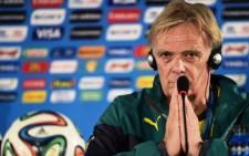 Cameroon coach Volker Finke. Picture: AFP.