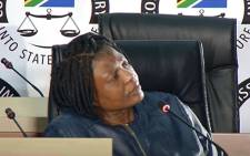A YouTube screengrab of former Bosasa employee Bongiwe Dube testifying at the state capture commission of inquiry on 25 August 2020. Picture: SABC/YouTube