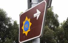 A signboard indicates the way to a SAPS police station. Picture: Supplied