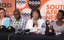 FILE: Good party leader Patricia de Lille. Picture: Bonga Dlulane/EWN
