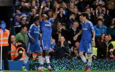 Chelsea's Samuel Eto'o celebrates his goal with team mates in the English Premier League against Liverpool on 29 December 2013. Picture: Facebook.