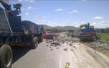 FILE: Six people died on 11 December when a 22-wheeler truck crashed through a road construction site on the R26 outside of Ladybrand in the Free State. Picture: EWN Traffic.