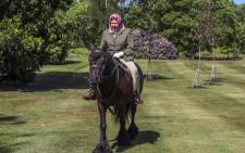 Queen Elizabeth riding a 14-year-old Fell pony in Windsor Home Park on 31 May 2020. Picture: @RoyalFamily/Twitter