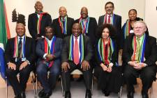 President Cyril Ramaphosa in preparation for SA's participation at #WEF19 with the Ministers of Finance and International Relations. Picture: @PresidencyZA/Twitter