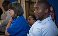 DA Leader Mmusi Maimane on the election trail in Gugulethu