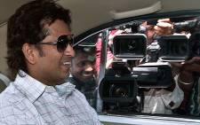 Indian Cricketer Sachin Tendulkar arrives in Parliament in New Delhi on 4 June 2012. Picture: AFP