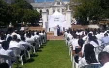 The memorial service of Ji In Gu. Picture: Tessa Knight.