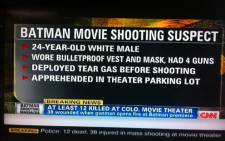 A screengrab of the Colorado shooting from CNN