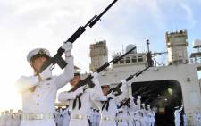The formation of the Japanese marine brigade is controversial because amphibious units can project military force and could, critics warn, be used to threaten Japan's neighbours. Picture: @JMSDF_PAO/Twitter.