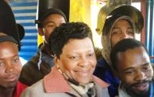 Gauteng Premier Nomvula Mokonyane with residents in Ennerdale, south of Johannesburg. Picture: Reinart Toerien/EWN