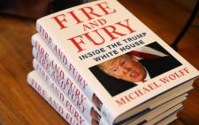 Copies of the book 'Fire and Fury' by Michael Wolff displayed on a shelf at Book Passage on 5 January 2018 in Corte Madera, California. Picture: AFP.