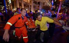 Nobody had claimed responsibility for the blast which killed 22 people including eight foreigners at a shrine in Bangkok.. Picture: AFP.