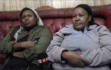Kedibone Mashego (right) speaks of the heartache of losing her son, Shaun, in a fire at the Palabora Mining Company. Picture: Louise McAuliffe/EWN