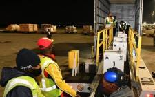 The first batch of Pfizer vaccines has landed at OR Tambo International Airport on Sunday, 02 May 2021. Picture: Zweli Mkhize/Twitter.