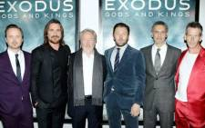 FILE: Director Ridley Scott alongside the cast of Exodus: Gods and Kings. Picture: Exodus: Gods and Kings Facebook page.