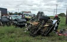 Five people were killed when two vehicles collided head-on N1 in Limpopo. Picture: Twitter  @_ArriveAlive.