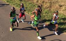 Runners at the Comrades Marathon. Picture:  @ComradesRace
