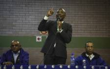DA leader Mmusi Maimane addressing Elsies River residents at the Leonsdale Civic Centre. Picture: Cindy Archillies/EWN