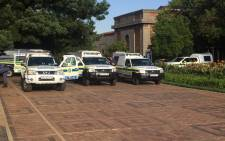 Wits University deployed heavy police presence on all its campuses following ongoing student protests over free education. Picture: Clement Manyathela/EWN.