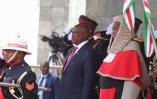 Mokgweetsi Masisi is sworn in as the president of Botswana in Gaborone on 1 November 2019. Picture: @BWGovernment/Twitter