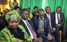 Deputy President David Mabuza (second right) and members of the ANC NEC visiting Winnie Madikizela-Mandela's home in Soweto to pay their respects to the late stalwart. Picture: Christa Eybers/EWN