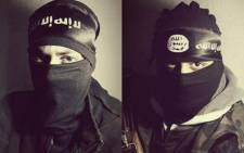 FILE: The profile picture from Abu Hurayra's now-suspended Twitter feed, showing him in full Islamic State regalia. Picture: Supplied