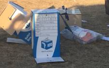 Ballot box found in IEC tent in Port Elizabeth. Picture: Simon Bezuidenhout/iWitness