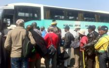 Lonmin Marikana miners prepare to leave to attend the funerals of their fallen colleagues. Picture: Taurai Maduna/EWN.