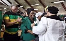 Nkosazana Dlamini-Zuma arrives for the ANCWL memorial for Winnie Madikizela-Mandela at Regina Mundi Church in Soweto. Picture: Ihsaan Haffejee/EWN.