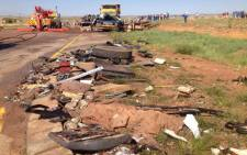 FILE: Over twenty-five people were killed an accident involving a bus and a truck in moloto Road, near Kwaggafontein in Mpumalanga. Picture:Barry Bateman/EWN.