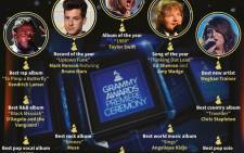 Winners in the main categories at the 2016 Grammy Awards.