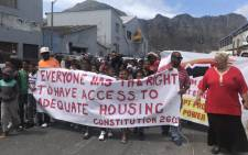 FILE: Hangberg protesters demand land for housing. Picture: Kaylynn Palm/EWN