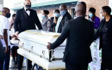 A short prayer service was held at the OR Tambo International Airport where family, friends and government officials attended, before proceeding to his hometown of eSkhawini in KwaZulu-Natal. Picture: KZN Government.