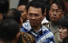 Jakarta's Christian governor Basuki Tjahaja Purnama (C), popularly known as Ahok. Picture: AFP